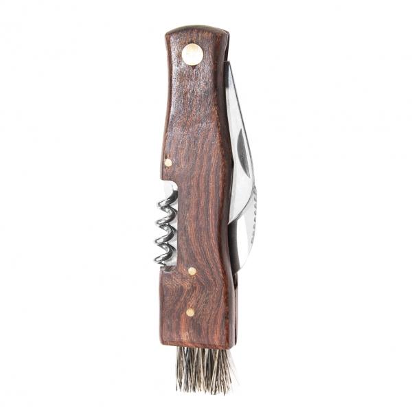 Hubársky nôž zatvárací so štetcom, otvarák