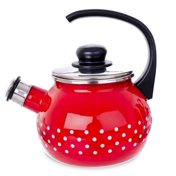 Čajník s píšťalou BODKA 1,75 l