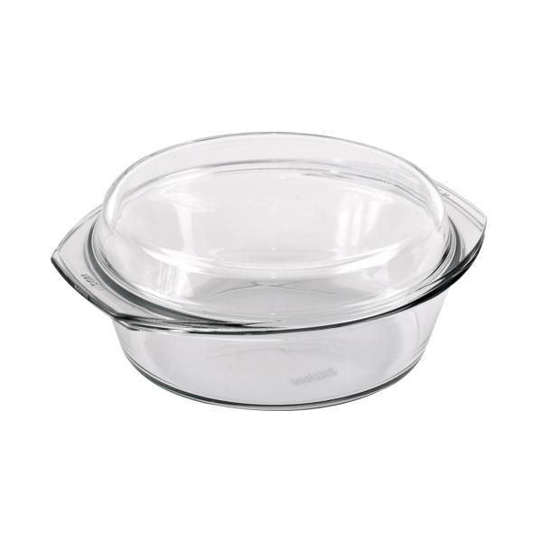 Pekáč sklo kulatý 1,5 l+0,6 l víko