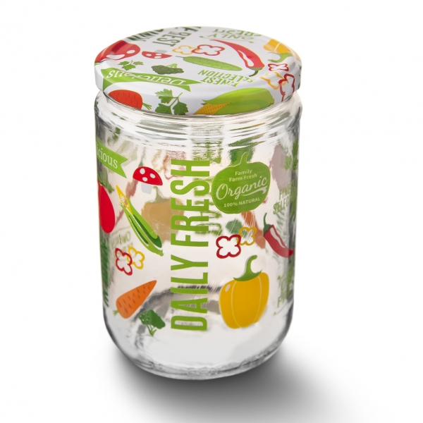 Zavařovací sklenice FRUIT s víčkem 0,66 l