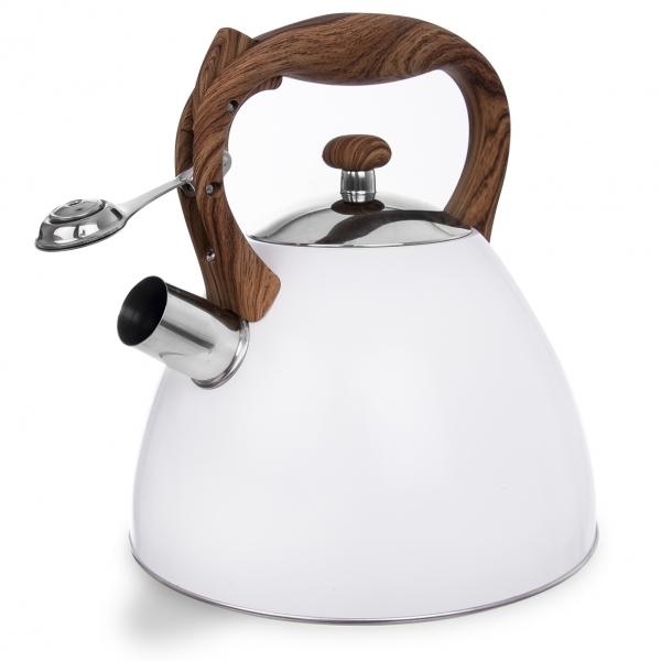 Čajník s píšťalou WOODEN 3,5 l