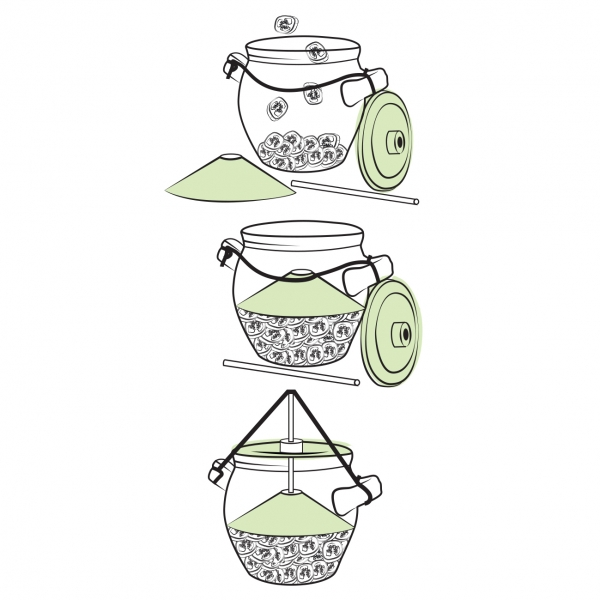 Nakládací hrnec na zeleninu Pickles 1,3 l