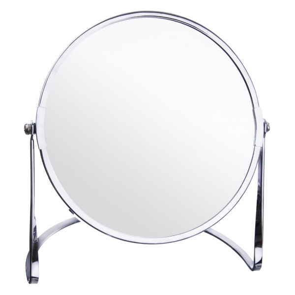 Zrcadlo pochrom. kov pr. 17 cm stojánek DUO