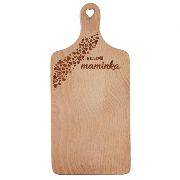 Prkénko rukojeť dřevo MAMINKA 30x14 cm