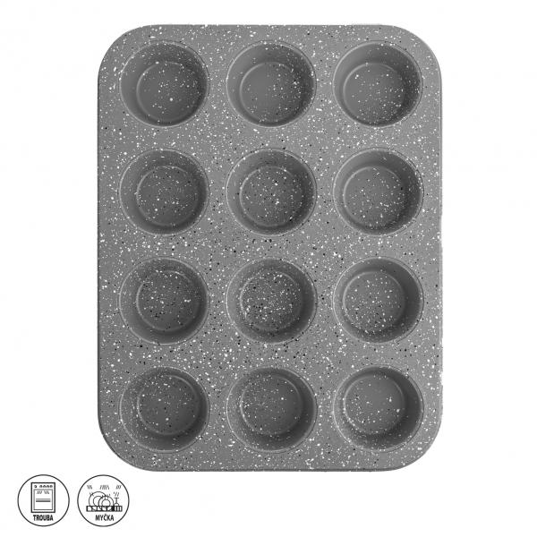 Forma kov/nepř. pov. muffiny 12 GRANDE 35x26,5 cm