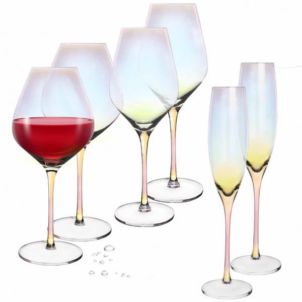 Sklenice na červené víno  LUSTER 0,65 l 2 ks