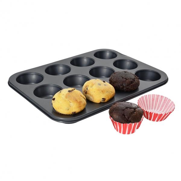 Forma na pečenie 12 muffinov s košičkami