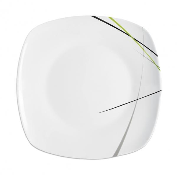 Mělký talíř GREEN 24x24 cm