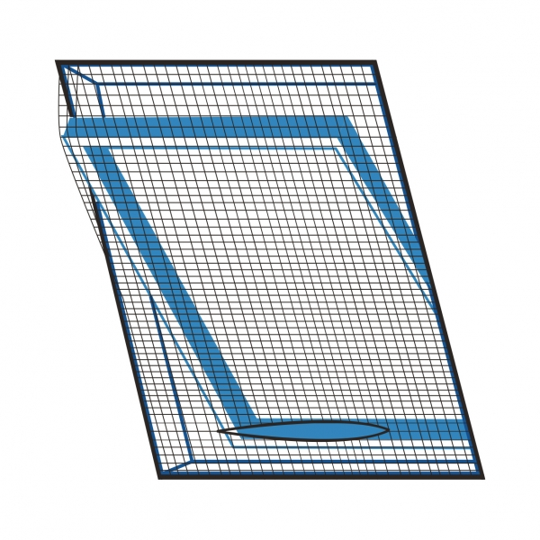 Sieť proti hmyzu strešné okno 120x140 cm čierna