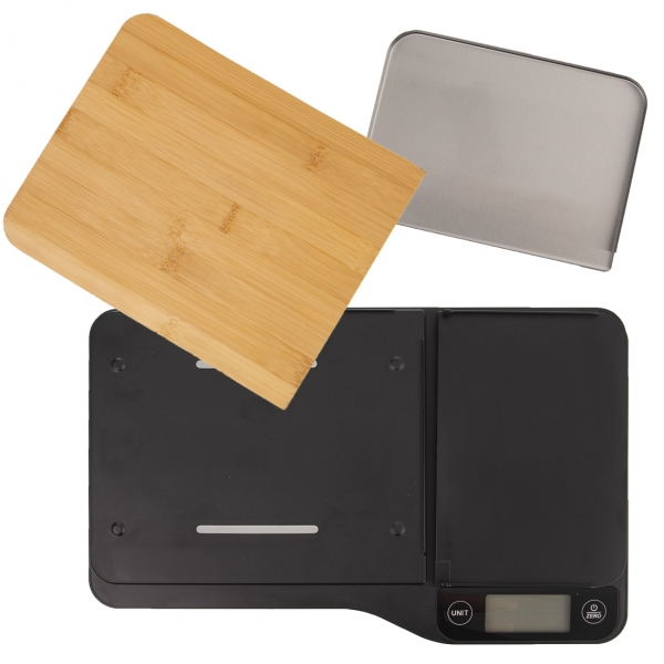 Kuchynská váha digitálna s krájacou doskou