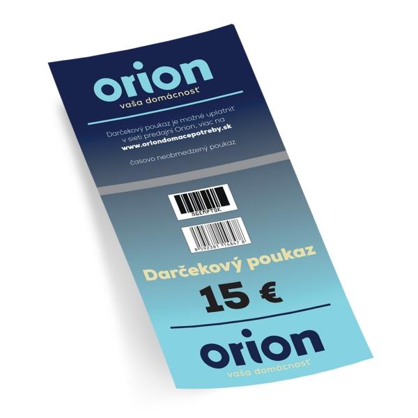 Darčekový poukaz Orion 15 EUR