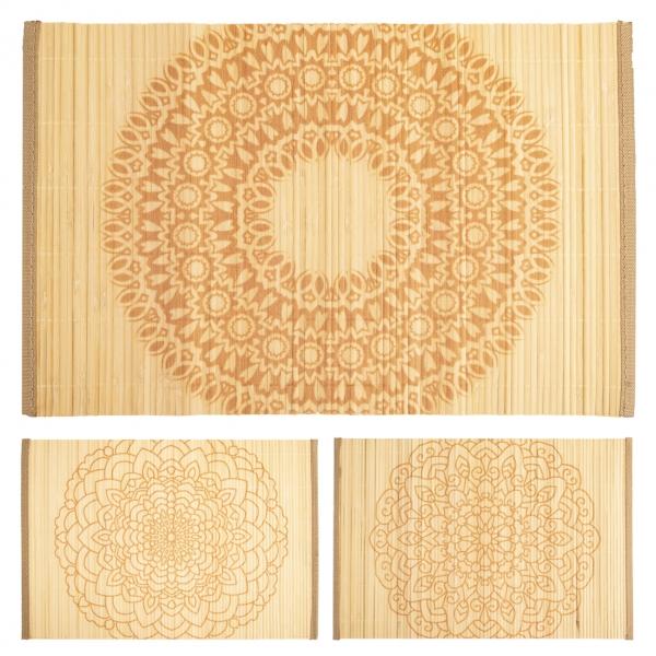 Prostírání bambus/polyester MANDALA 44,5x30 cm ASS
