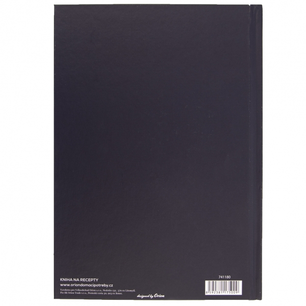 Kniha na recepty LÚKA modrá