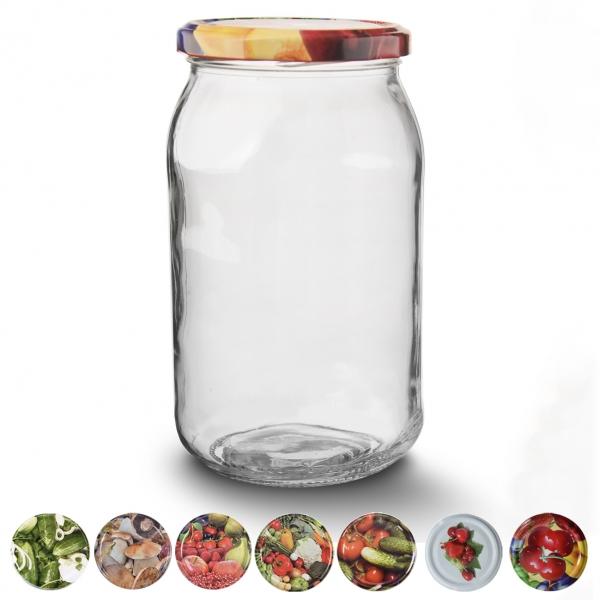 Zavařovací sklenice s víčkem 0,9 l