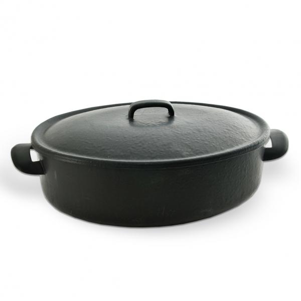 Pekáč černá BELIS 33x25 cm víko