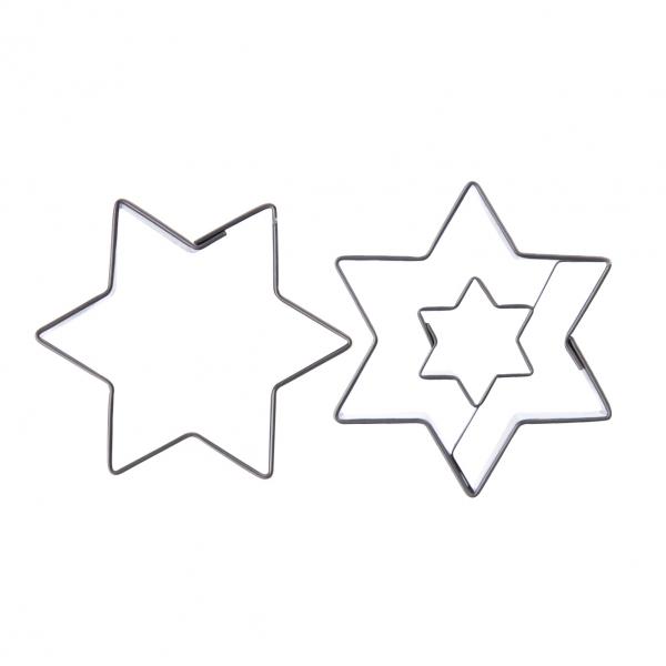 Vykrajovačka nerez/střed HVĚZDA 2ks