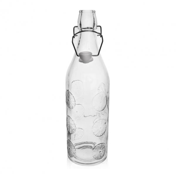 Láhev sklo CLIP uzávěr 1,1 l ORANGE