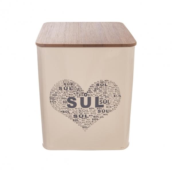 Dóza Sůl SRDCE 11,5x11,5x14 cm
