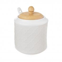 Cukřenka se lžičkou WHITELINE pr. 9 cm