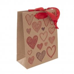 Dárková taška 26x32,5 cm HEARTS