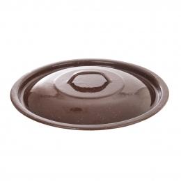Smaltovaná pokrievka BROWN na vedro pr. 30 cm