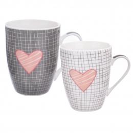 Hrnek  Pink HEART 0,35 l 2 ks