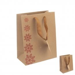 Dárková taška 18x10x23 cm SNOWFLAKES