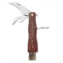 Houbařský nůž  zavírací se štětcem, otvíráky