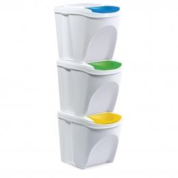 Odpadkový koš na tříděný odpad SORT 3x21 l