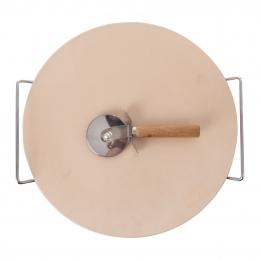 Kámen na pečení s kráječem pr. 33 cm