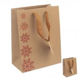 Darčeková taška 26x12,5x32 cm SNOWFLAKES
