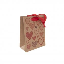 Dárková taška 14x18 cm HEARTS