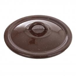 Smaltovaná pokrievka BROWN pr. 16 cm
