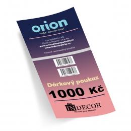 Dárkový poukaz Orion/Indecor 1 000 Kč