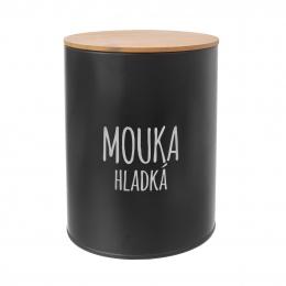 Dóza Hladká mouka BLACK pr. 13 cm