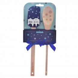 Darčeková stierka s vareškou DOMKY modrá