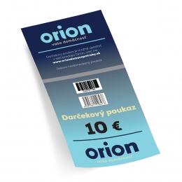 Darčekový poukaz Orion 10 EUR