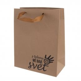 Darčeková taška 26x32,5 cm S TEBOU MA BAVÍ SVET