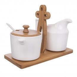 Mliekovka s cukorničkou a stojanom WHITELINE