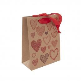 Darčeková taška 18x23 cm HEARTS