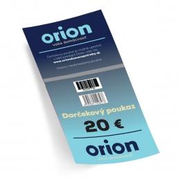 Darčekový poukaz Orion 20 EUR