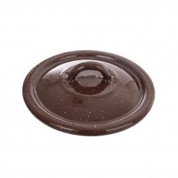 Smaltovaná pokrievka BROWN pr. 14 cm