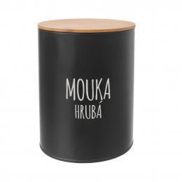 Dóza Hrubá mouka BLACK pr. 13 cm