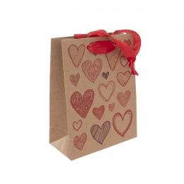 Dárková taška 18x23 cm HEARTS