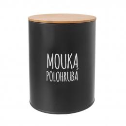 Dóza Polohrubá mouka BLACK pr. 13 cm