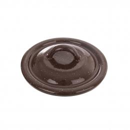 Smaltovaná pokrievka BROWN pr. 12 cm