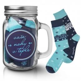 Darčekový pohár s ponožkami DOMKY